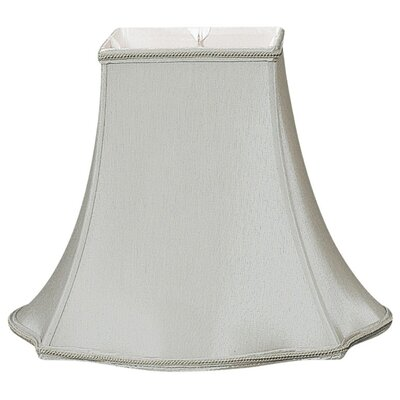 Timeless 16 Silk/Shantung Bell Lamp Shade Color: Gray/Off-White