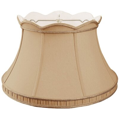 Timeless 17 Silk/Shantung Bell Lamp Shade Color: Antique Gold