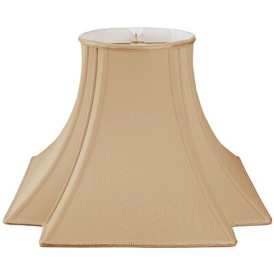 Timeless 18 Silk/Shantung Novelty Lamp Shade Color: Antique Gold/Off-White