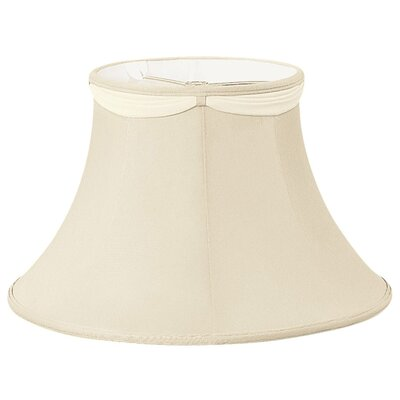 Timeless 10 Silk/Shantung Bell Lamp Shade Color: Beige/Off-White