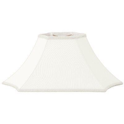 Timeless 24 Silk/Shantung Bell Lamp Shade Color: White/Off-White