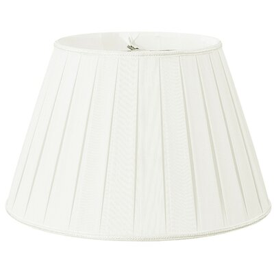 Timeless 16 Silk/Shantung Empire Lamp Shade Color: White/Off-White