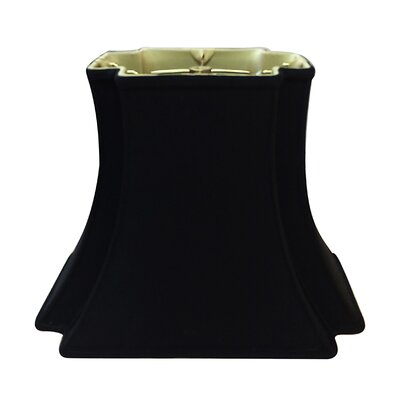 Timeless 18 Silk/Shantung Bell Lamp Shade Color: Black/Gold
