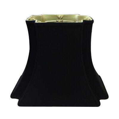 Timeless 18 Silk/Shantung Bell Lamp Shade Color: Black/Gold