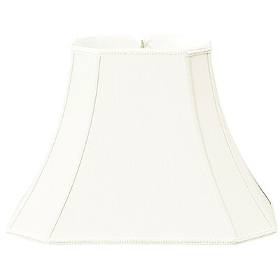 Timeless 18 Silk/Shantung Bell Lamp Shade Color: White