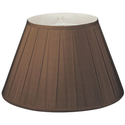 Timeless 14 Silk/Shantung Empire Lamp Shade Color: Chocolate