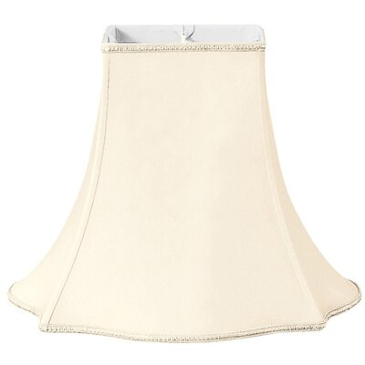 Timeless 16 Silk/Shantung Bell Lamp Shade Color: Eggshell/Off-White