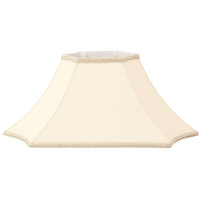 Timeless 24 Silk/Shantung Bell Lamp Shade Color: Eggshell/Off-White
