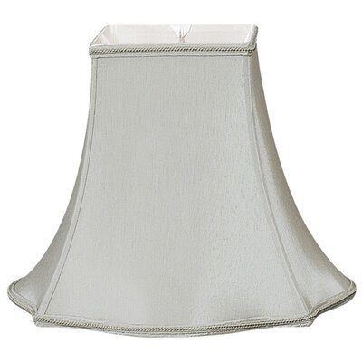 Timeless 14 Silk/Shantung Bell Lamp Shade Color: Gray/Off-White