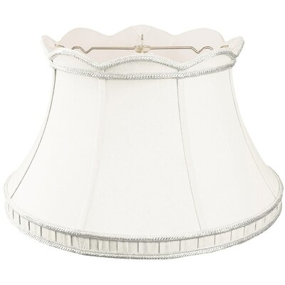 Timeless 17 Silk/Shantung Bell Lamp Shade Color: White
