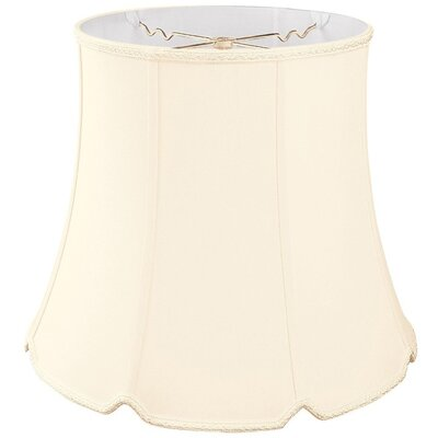 Timeless 14 Silk/Shantung Bell Lamp Shade Color: Eggshell