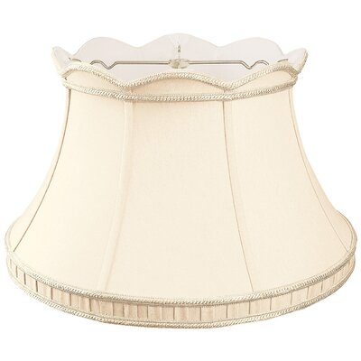 Timeless 17 Silk/Shantung Bell Lamp Shade Color: Eggshell