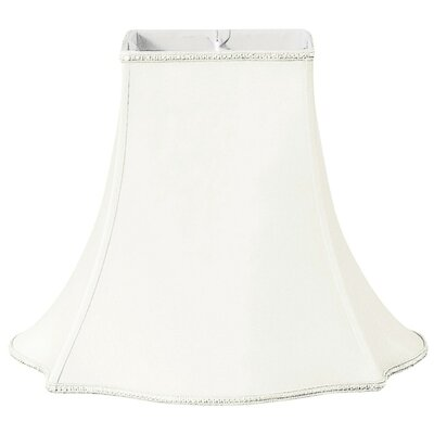 Timeless 16 Silk/Shantung Bell Lamp Shade Color: White/Off-White