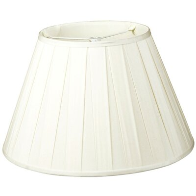 Timeless 12 Silk/Shantung Empire Lamp Shade Color: White