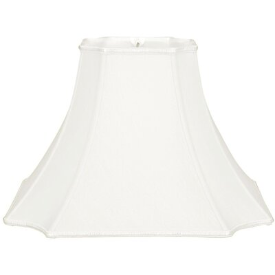Timeless 20 Silk/Shantung Bell Lamp Shade Color: White