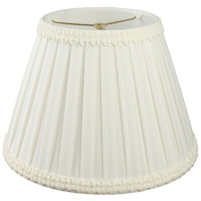 Timeless 8 Silk/Shantung Empire Lamp Shade Color: White/Off-White