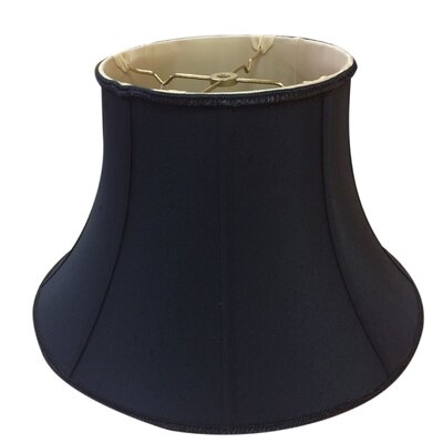 Timeless 12 Silk/Shantung Bell Lamp Shade Color: Black/Gold
