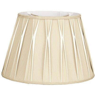 Timeless 18 Silk/Shantung Empire Lamp Shade Color: Antique Gold/Off-White