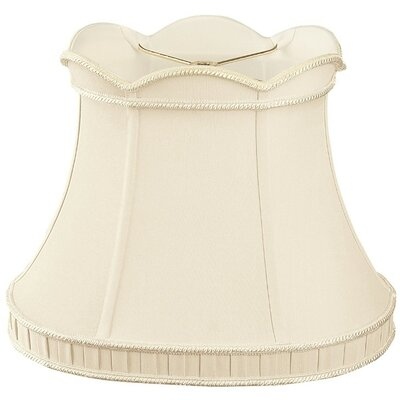 Timeless 16.25 Silk/Shantung Bell Lamp Shade Color: Antique Gold/Off-White