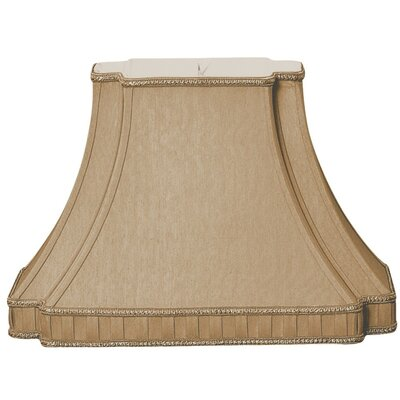 Timeless 14.25 Silk/Shantung Bell Lamp Shade Color: Antique Gold