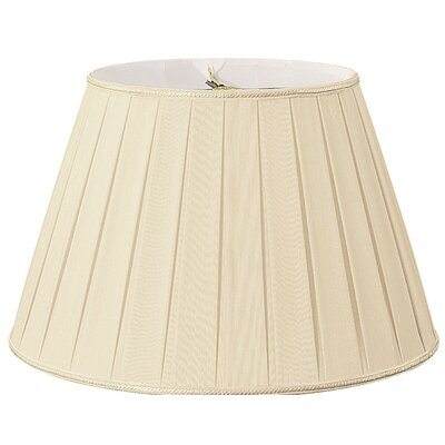 Timeless 14.5 Silk/Shantung Empire Lamp Shade Color: Beige/Off-White