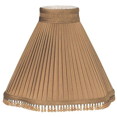 Timeless 12 Silk/Shantung Empire Lamp Shade Color: Brown/Gold