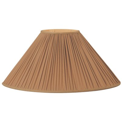 Timeless 21 Silk/Shantung Empire Lamp Shade Color: Brown/Gold