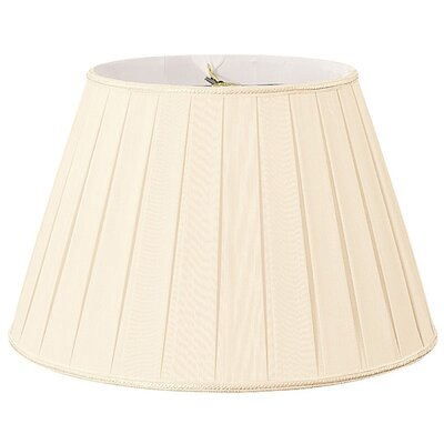 Timeless 14.5 Silk/Shantung Empire Lamp Shade Color: Eggshell/Off-White