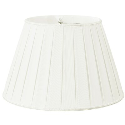 Timeless 14.5 Silk/Shantung Empire Lamp Shade Color: White/Off-White