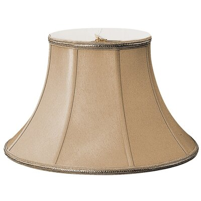 Timeless 14 Silk/Shantung Bell Lamp Shade Color: Antique Gold/Off-White
