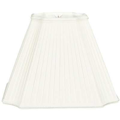 Timeless 15 Silk/Shantung Empire Lamp Shade Color: White/Off-White