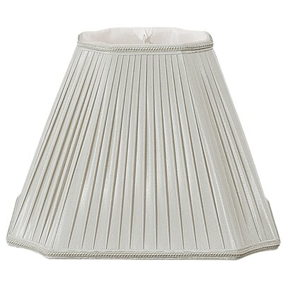 Timeless 15 Silk/Shantung Empire Lamp Shade Color: Gray/Off-White