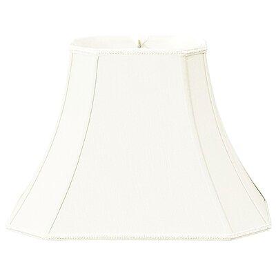 Timeless 12 Silk/Shantung Bell Lamp Shade Color: White