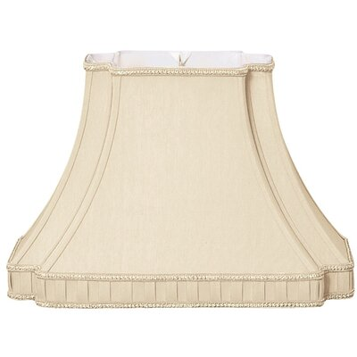 Timeless 14.25 Silk/Shantung Bell Lamp Shade Color: Beige
