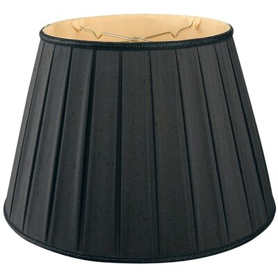 Timeless 14.5 Silk/Shantung Empire Lamp Shade Color: Black/Gold