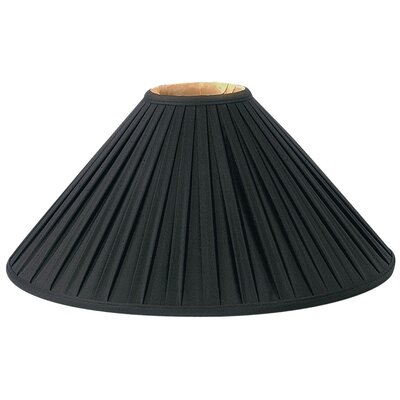 Timeless 20 Silk/Shantung Empire Lamp Shade Color: Black