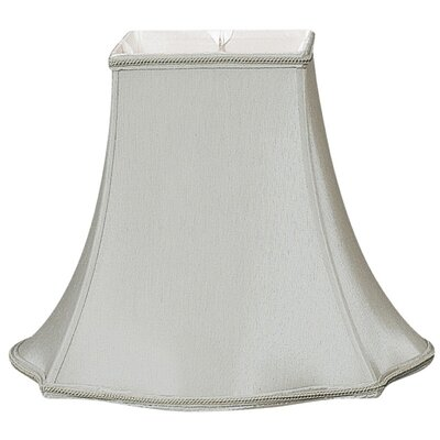 Timeless 10 Silk/Shantung Bell Lamp Shade Color: Gray/Off-White