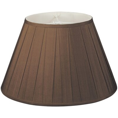 Timeless 16 Silk/Shantung Empire Lamp Shade Color: Chocolate