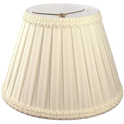 Timeless 8 Silk/Shantung Empire Lamp Shade Color: Beige/Off-White