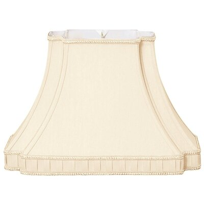 Timeless 14.25 Silk/Shantung Bell Lamp Shade Color: Eggshell
