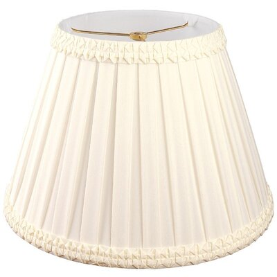 Timeless 8 Silk/Shantung Empire Lamp Shade Color: Eggshell/Off-White