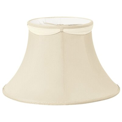 Timeless 14 Silk/Shantung Bell Lamp Shade Color: Red Flower