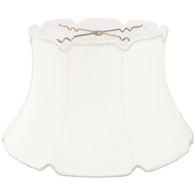 Timeless 19 Silk/Shantung Bell Lamp Shade Color: White