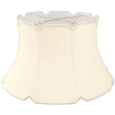 Timeless 19 Silk/Shantung Bell Lamp Shade Color: Eggshell