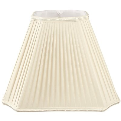 Timeless 13.5 Silk/Shantung Empire Lamp Shade Color: Beige