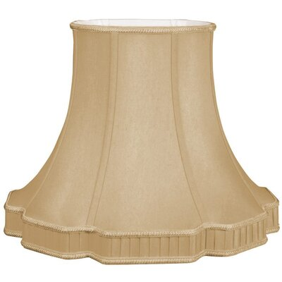 Timeless 14 Silk/Shantung Bell Lamp Shade Color: Antique Gold