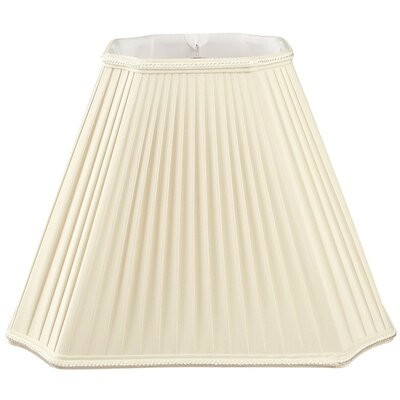 Timeless 15 Silk/Shantung Empire Lamp Shade Color: Beige/Off-White