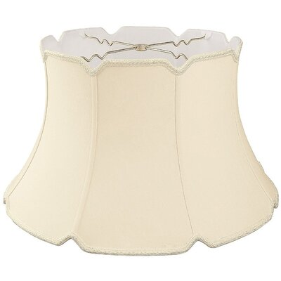 Timeless 19 Silk/Shantung Bell Lamp Shade Color: Beige