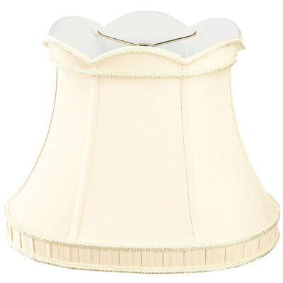 Timeless 14 Silk/Shantung Bell Lamp Shade Color: Eggshell/Off-White