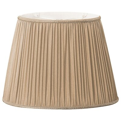 Timeless 16 Silk/Shantung Empire Lamp Shade Color: Antique Gold/Off-White